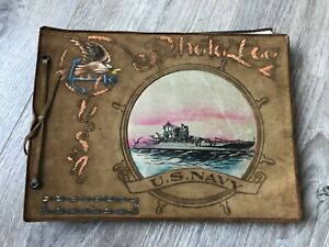 1940s WWII US Navy Photo Album Cool cover!