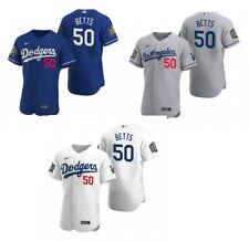 Mookie Betts #50 Dodgers World Series 2020 Jersey Stitched