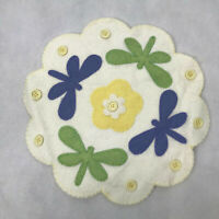 80 Spring Color Felt Embossed Flower with Hole Applique//Scrapbooking//Craft L47