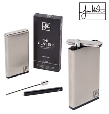 Stainless Steel Dugout w/ One Hitter Pipe Stash Chamber Cigarette Case Jane West