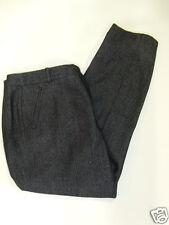 NWT Womens J. Crew Wool Blend Herringbone Tweed Pants 14 Black NEW