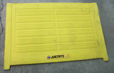 "Yellow Poly Spill Pallet Ramp 1,000 lb Cap 4WLT8 28620 33"" x 49"" x 10.5"" Tall"