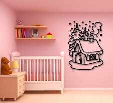 Wall Stickers Vinyl Decal Snow Village Winter Chill House (ig1727)