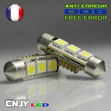 2 AMPOULE 3 LED SMD CBS SPECIAL ANTI ERREUR ODB C5W C10W 36~37MM XENON 12V BLANC