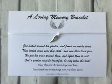 Memory Wish Bracelet, Remembrance, Loss, Bereavement, Gift, Angel Wings, #WB