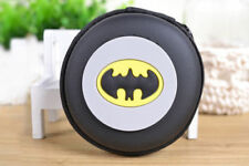 NEW Round Batman Kids Boys Rubber Coin Purse Wallet Headset Bag Gift