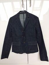 Theory Dark Blue Jean Denim Jacket Blazer New NWOT