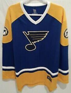 """St. Louis Blues NHL Fanatics Branded Breakaway Large Blue Yellow Jersey """"NEW!!!"""""""