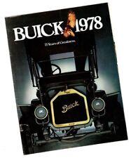 1978 BUICK RETRO Brochure / Catalog: RIVIERA,REGAL,SKYHAWK,SKYLARK,CENTURY,
