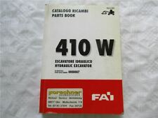 FAI 410W Hydraulic Excavator Escavatore Parts Book List Catalogo Ricambi
