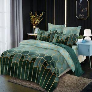 Bedroom Geometric Pattern King Comforter Bedding Set Duvet Cover Queen Bed