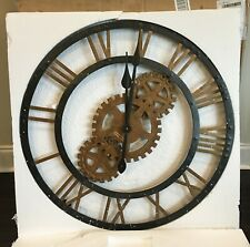 "HOWARD MILLER 625-517 CROSBY Oversized 30"" Metal Gallery Wall Clock 625517  BLEM"