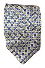 * GUCCI * Hommes Cravate 100% soie jaune cercle de base et STIRRUP répéter (57 L)