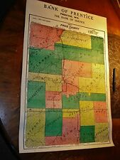 Prentice Wi Price County Wisconsin antique Map