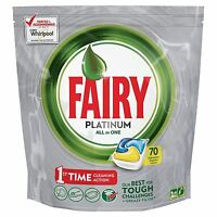 Fairy Platinum LEMON All-in-One Dishwasher Tablets Pouches - 70 Capsules Pack