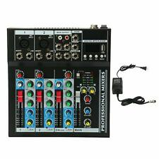 YaeCcc 4 Channel Live Studio Stereo Audio Mixer Sound Console Us Free ship