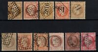 PB131423/ FRANCE STAMPS / CLASSIC STAMPS / LOT 1860 – 1872 USED – CV 200 $