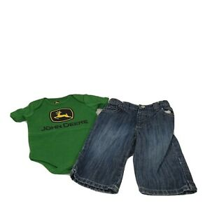 John Deere One Piece Bodysuit and Old Navy Jeans Outfit Boys Size 3-6 Months