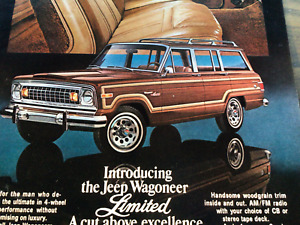 Vintage 1970s Jeep Wagoner American Motors Corporation Print Ad Advertisement