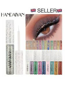 12 vibrant coloured liquid glitter eyeliners handaiyan