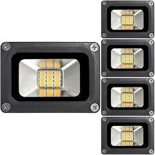 5X 10W Fluter Warmweiß LED Außen Strahler Flutlicht Scheinwerfer Lampe 12V IP65