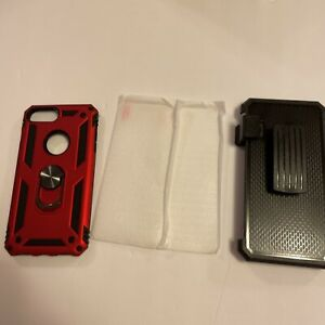 LeYi Iphone 6 Plus/7plus/8plus Case With Tempered Glass Screen Protector.