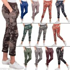 Flower Regular Size Trousers Joggers for Women