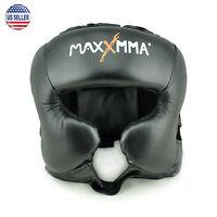 MaxxMMA Headgear Black L/XL, Boxing, MMA, Protector, Helmet, Guard, Sparring
