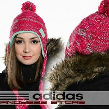adidas Performance CLIMAWARM™ Women Beanie Hat Knit Fleece CW Cable Peru Tassled