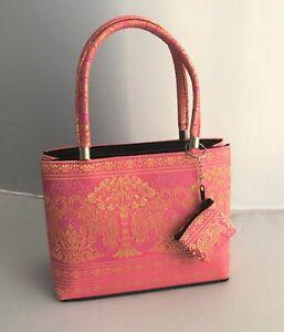 Pink Handbag with Elephant Design