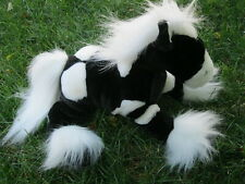 Animal Alley Horse Black White Pony Paint Clydesdale Toys R Us Plush