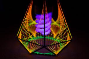 Pendant Table Decorative Lamp, UV LED Lamp, Bohemian Lamp, String Art