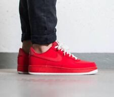 Nike Air Force 1 Low University Red Sz 14 Sail Leather Triple Shoes 820266-603