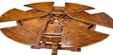 "64""-84"" W Selene Extendable Dining Table Country Classic Trestle Base Walnut"