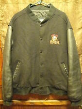 QUAD CITY MALLARDS Hockey ~ Men's 2XL ~ Vintage ~ Leather & Wool Varsity Jacket