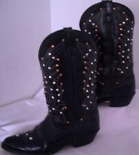 ** Laredo Leather Vamp BLACK STUDS BLING USA Cowboy Western Boots 8 nice!