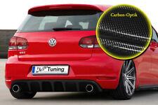 Heckeinsatz Heckansatz  Diffusor Spoiler ABS für Golf 6 GTI + GTD Carbon Optik
