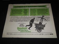 1970 QUACKSER FORTUNE HAS A COUSIN IN THE BRONX 1/2 SHEET MOVIE POSTER - P 341