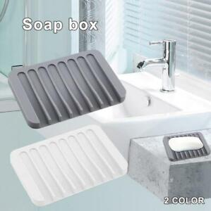 Soap Saver Tray Case Dish Holder Stand Shower Silicone Rubber Drainer Dishes