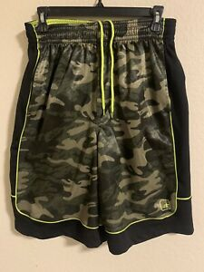 AND1 Men's Active Camo Print Basketball Shorts Camouflage Size M