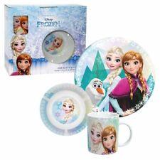 Geschirr Set 3-tlg | Porzellan | Disney Eiskönigin | Frozen | Anna, Elsa & Olaf