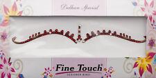 Bindi rouge bijoux de peau mariage autoadhesif strass front sourcils 2693