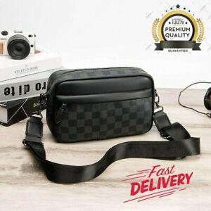 Men's Luxury Leather Elegant Shoulder Handbag Horizontal Cross Body Small Bags
