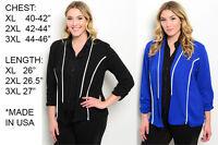 USA WOMENS PLUS SIZE Casual Solid Suit Blazer Jacket Coat Outwear Fashion Vest