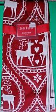 STOREHOUSE HOLIDAY THROW BLANKET KNIT REINDEER HEART SNOWFLAKE NORDIC PRINT NEW