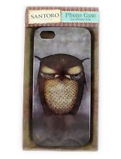 SANTORO London iphone 5 & 5s Rigid Plastic Case Cover - Grumpy Owl