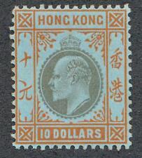 HONG KONG 85 MINT LH $10 KING EDWARD, WMK CA