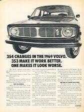 1969 Volvo 140 B-20 B20 Original Advertisement Print Art Car Ad J378