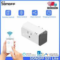 SONOFF S31 Lite US Wifi Socket Smart Wireless Power 15A Switch Timer Plug Alexa