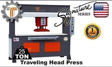 NEW!! CJRTec 25 Ton Traveling Head Clicker Press Hydraulic Cutting Machine